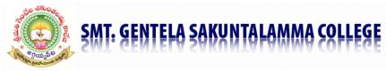 Logo for Smt. Gentela Sakuntalamma College